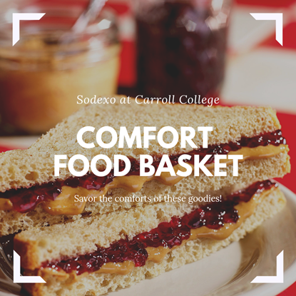 Comfort Food Basket Peanut Butter and Jelly Sandwich