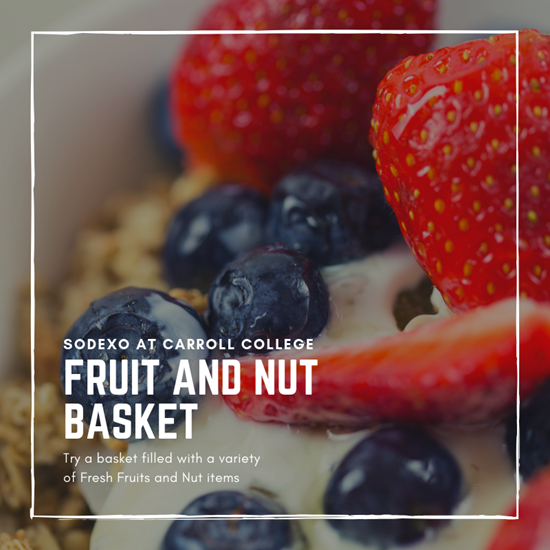 Fruit and Nut Basket Berries and Yogurt